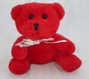Russell Stover Plush Red Teddy BEAR Mini Heart Ribbon 4