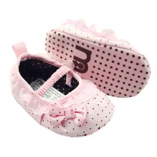 Sweet Pink Infant Baby Girls Dress Ballet Shoes 3 6m