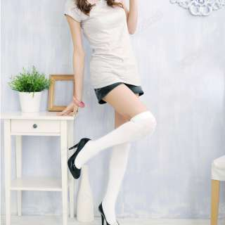 Colors Women Over Knee Thigh High Socks Stockings New