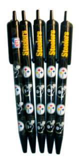Pittsburgh Steelers Football 5 Pack Click Pen Set