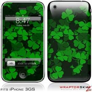 iPhone 3GS Skin   St Patricks Clover Confetti by