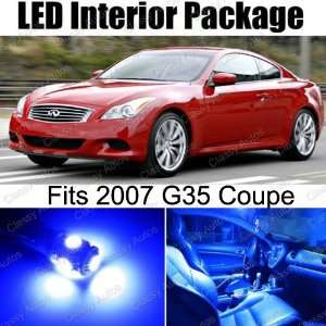 Infiniti G35 Coupe BLUE Interior LED Package (7 Pieces
