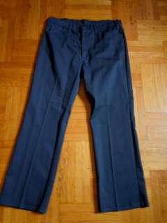 Vintage Levis Big E Sta prest navy bedford cords bootcut pants :W36