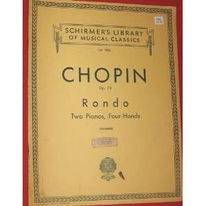 Rondo Two Pianos, Four Hands (Music Score): Chopin: Books