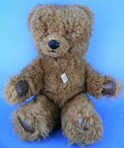 Vintage Bell & England Plush Stuffed Jointed Teddy Bear