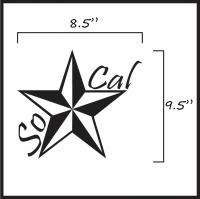 Custom So Cal / California Die Cut Vinyl Decal Sticker ANY COLOR