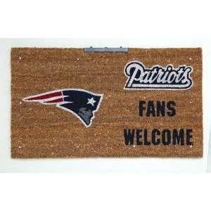 New England Patriots Lighted Coir Door Mat Patio, Lawn