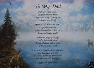 TO MY DAD POEM PERSONALIZED GIFTS FOR BIRTHDAY, CHRISTMAS, FATHERS