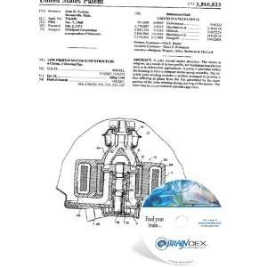 NEW Patent CD for LOW PROFILE MOTOR PUMP STRUCTURE
