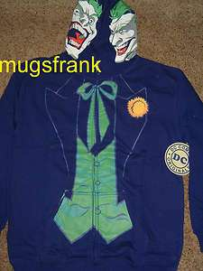 Batman Joker 2 Face Dc Comics Zip up Hoodie Jacket Shirt