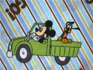New Disney Mickey Mouse Pluto Cartoon Car Fabric BTY
