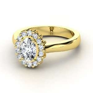 Princess Kate Ring, Oval Diamond 14K Yellow Gold Ring