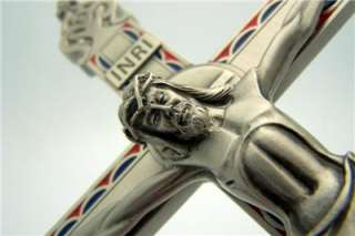 Large Silver Pewter Wall Cross Crucifix Catholic Gift