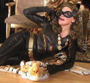 1960s CATWOMAN COSTUME Batman Eartha Kitt Catsuit Mask