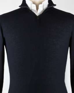 New $825 Avon Celli Midnight Navy Blue Sweater Small/48