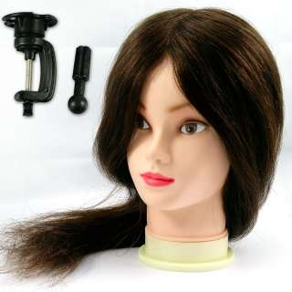 TRAINING HEAD 100% Human Real Hair 18 Long Hairdressing Salon