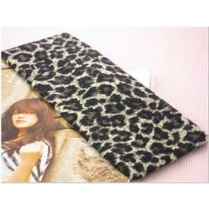 Black Leopard Animal Print Stretchy Hair Band for Women or