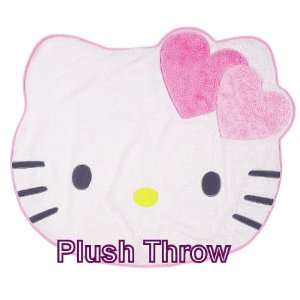 Hello Kitty   White Hello Kitty Shaped Throw   Blanket