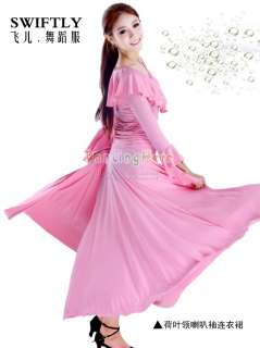 Flamenco salsa tango Ballroom Dance Dress #D017 pink