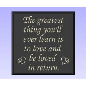 Decorative Wood Sign Plaque Wall Decor with Quote The greatest thing
