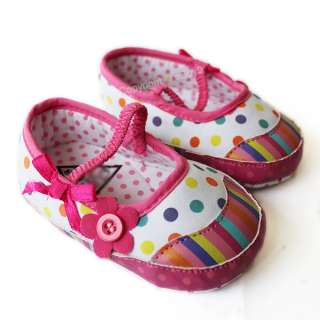 Fashion Cute Toddler baby girls Princess shoes white flower Size: US