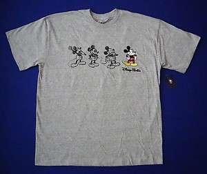 Disney Mickey Mouse Sketches with Embroidered Mickey X Large Adult Tee
