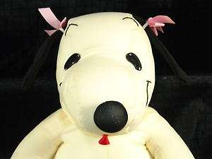 13 Beagle Bell Snoopy Girl Dog Microbead Pillow Plush