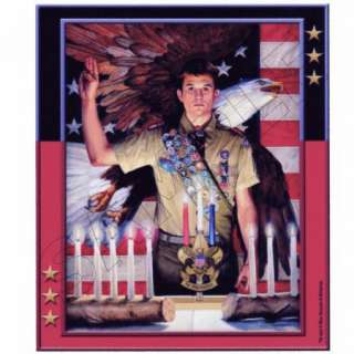 Boy Scouts Eagle Scout ~ Edible Image Icing Cake, Cupcake Topper