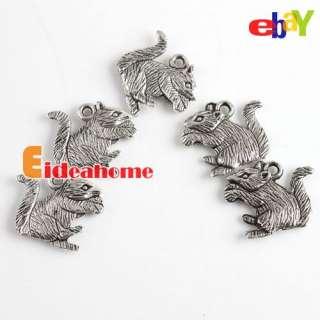 Multi Animal Shape Silver Oxide Alloy Pendant Beads Fit Charm Bracelet