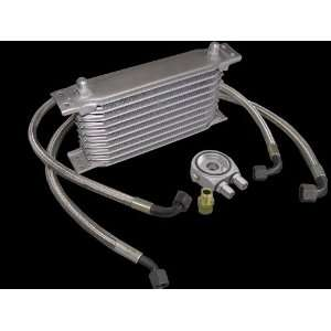 Aluminum Universal 10 Row Oil Cooler Kit High Performance