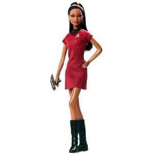 Barbie Star Trek Lt. Uhura AA Red & Black Dress Lovely