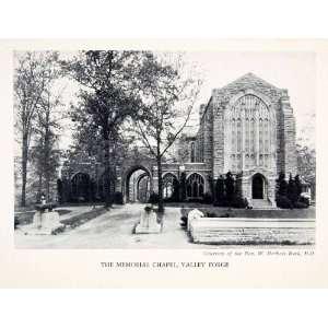 1930 Print Washington Memorial Chapel Valley Forge