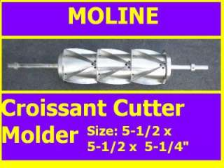 MOLINE Croissant Cutter Molder for Sheeter Good Conditn