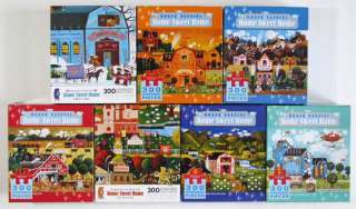 Lot of 7 Complete Roger Nannini LARGE FORMAT 300 Piece Puzzles Home