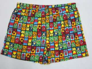Marvel Heroes & Villains Spiderman Hulk Cotton Boxer Shorts Mens Size