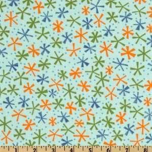 44 Wide Moda Ten Little Things Twinks Aqua Fabric By The