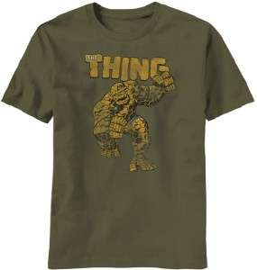 The Thing Classic Marvel Comic Distressed Look Licensed Tee Shirt