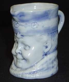 Antique Schafer Schaefer & Vater Figural Dutch Boy Porcelain Pitcher