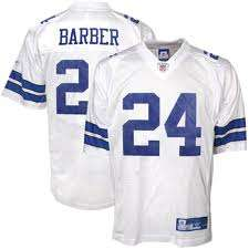 MARION BARBER Dallas Cowboys White Replica Jersey Mediu