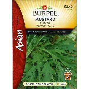 Burpee 69637 Asian   Mustard Mizuna Seed Packet: Patio, Lawn & Garden