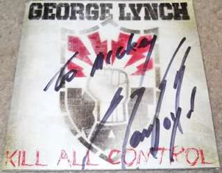 GEORGE LYNCH signed autographed cd DOKKEN/LYNCH MOB