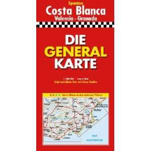 Costa Blanca Pb (Marco Polo Regional Maps: Spain) (German Edition)