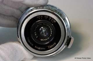 Used Nikon W Nikkor C 3.5cm f3.5 lens Nippon Kogaku Tokyo MIOJ