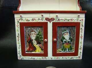 Dollhouse Mini Furniture Karen Markland Hand Painted Cupboard OOAK