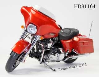 Davidson FLHX Street Glide Diecast Motorcycle 112 Sedona Orange