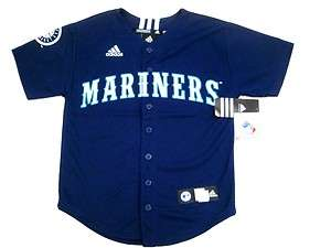 Adidas Seattle Mariners MLB Youth L Baseball Jersey Blu