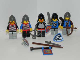 Lego Minifig Minifigure Castle Dragon Knights Lot of 5 Minifigs 6057