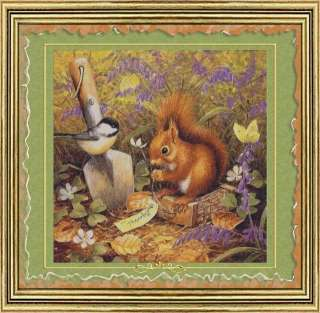 GIFT FOR MR. SQUIRREL COUNTED CROSS STITCH PATTERN