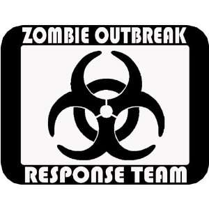 Zombie Outbreak 6 Rectangle BLACK Vinyl Decal Sticker by IKON SIGN