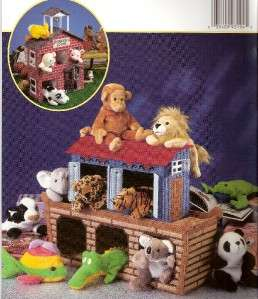 Plastic Canvas Playtime Places School House Noahs Ark